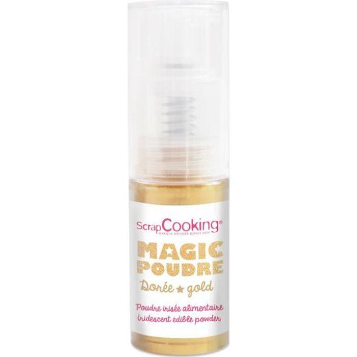 Spray alimentaire Magic poudre Dorée irisé - Scrapcooking