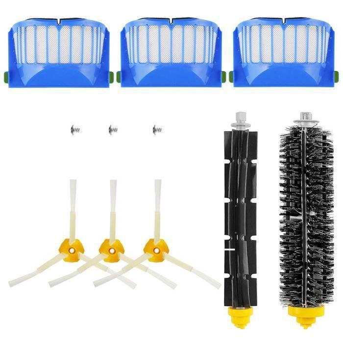 Kit de Brosse de Remplacement Kit de Maintenance Pour Kit de Nettoyage Série 600 Roomba Filtre À Brosse