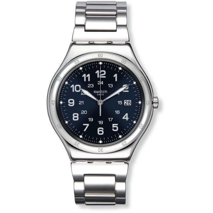 Swatch Montre Homme Digitale Quartz avec Bracelet en Acier Inoxydable - YWS420G