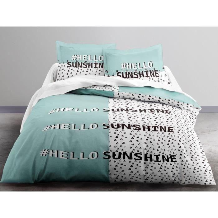 TODAY Parure de couette Enjoy HELLO SUNSHINE 100% coton 240x260 cm