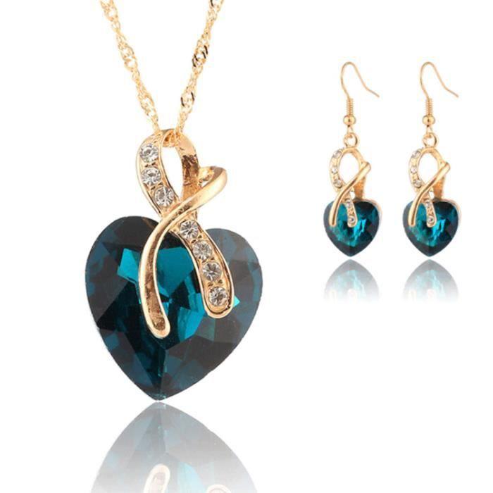 Mode Plaqué Or Bleu Turquoise Perles Pampilles lustre boucles d/'oreille