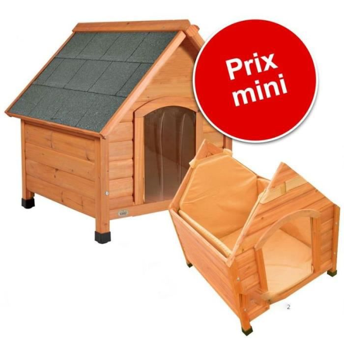 niche pour chien en bois cage parc isolation et porte l. Black Bedroom Furniture Sets. Home Design Ideas