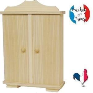 bo te clef en bois 2 portes achat vente armoire. Black Bedroom Furniture Sets. Home Design Ideas