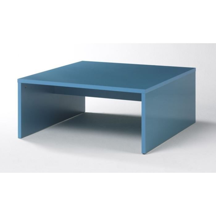 Table basse cubo 3 bleu laqu achat vente table basse - Table basse bleu ...