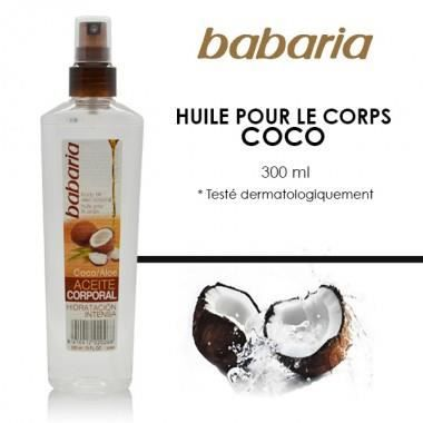 babaria huile pour le corps coco 300ml achat vente hydratation b b babaria huile pour. Black Bedroom Furniture Sets. Home Design Ideas