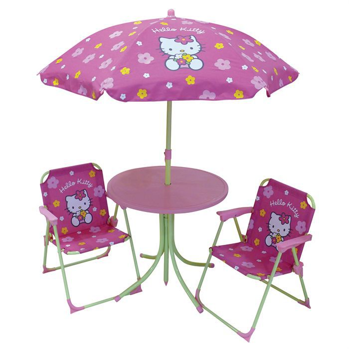 Set Table 2 Fauteuils Parasol Hello Kitty Achat