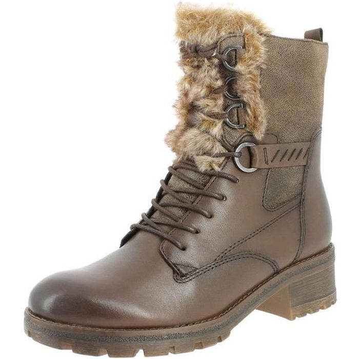 Femme Achat Low Bottines Boots Tamaris 26212 Marron tMaRFqRw