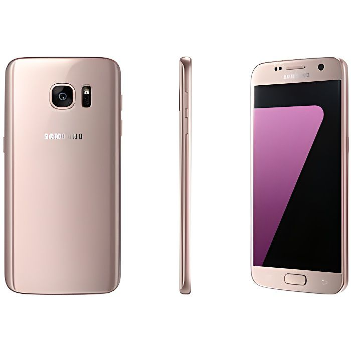 smartphone samsung g930 galaxy s7 32 go rose gold tout op rateurs achat smartphone pas cher. Black Bedroom Furniture Sets. Home Design Ideas