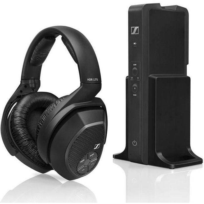 sennheiser rs 175 casque tv sans fil hifi bass boost. Black Bedroom Furniture Sets. Home Design Ideas