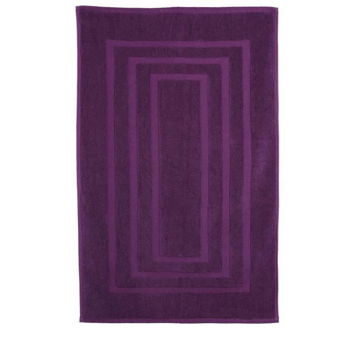 tapis de salle de bain violet violet achat vente tapis bain cdiscount. Black Bedroom Furniture Sets. Home Design Ideas