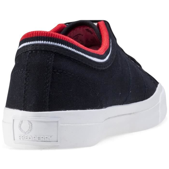 Fred Perry Kendrick Tipped Cuff Hommes Baskets Navy Red - 7 UK