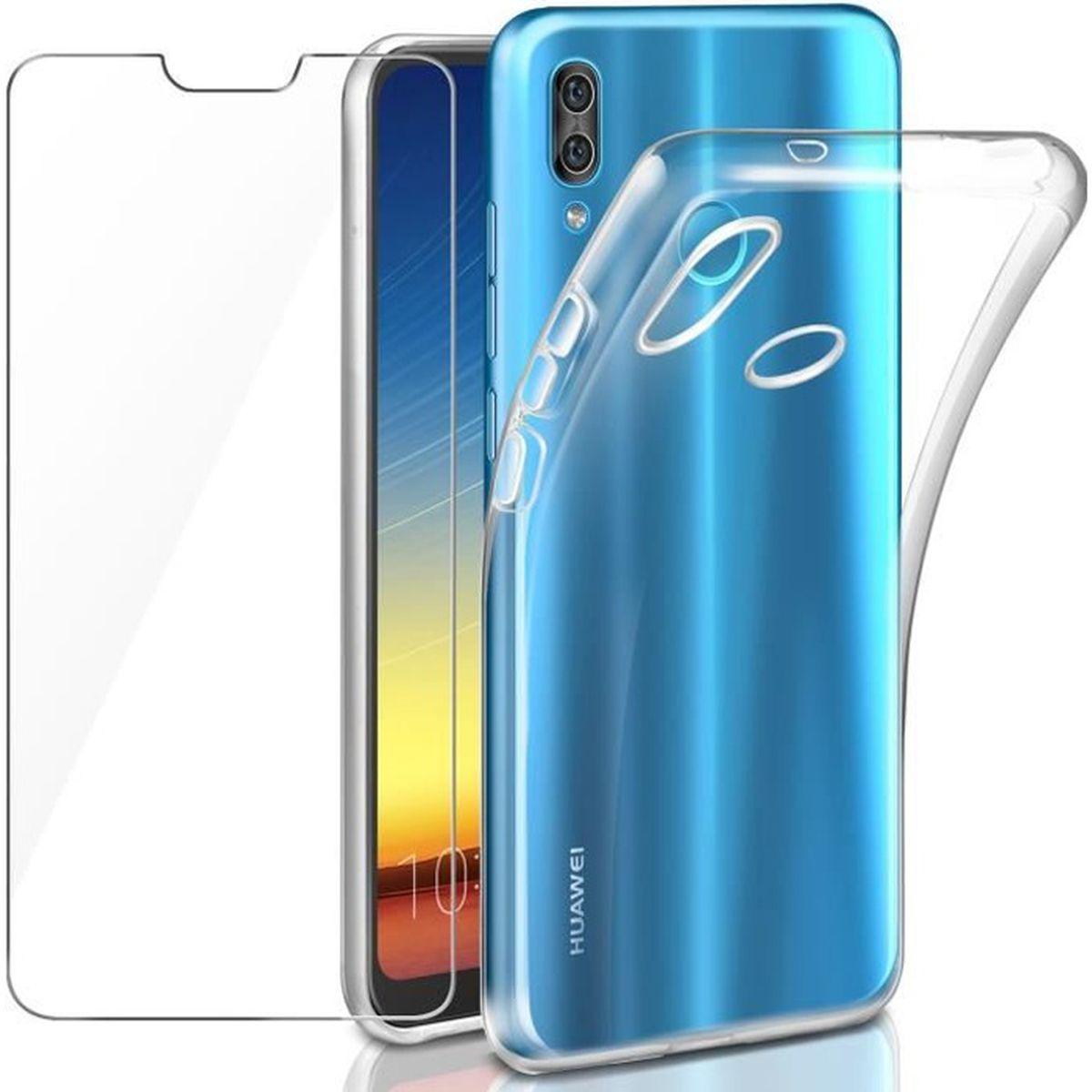Coque Huawei P20 Lite Gel Silicone Transparente Verre trempé ...