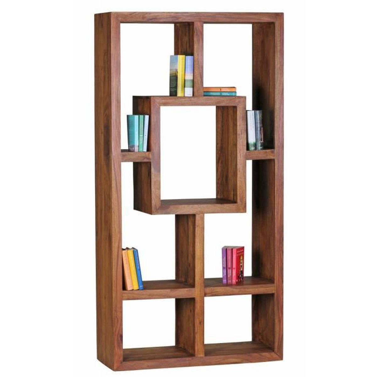 biblioth que en bois massif sheesham 90 x 180 cm living shelf plateaux tag res debout de style. Black Bedroom Furniture Sets. Home Design Ideas