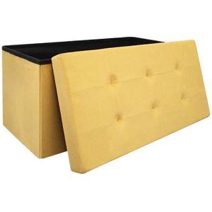 POUF - POIRE Coffre banc pouf de rangement pliable 76,5x37,5x37