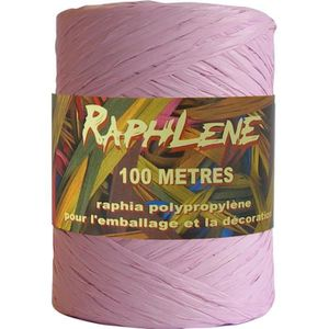 Prasent 100 M rayonne raphia Bobine rayonne rose poudrée