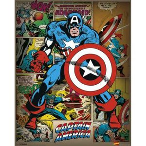 AFFICHE - POSTER Empire Mini-poster Marvel Captain America Retro +
