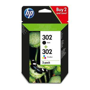 CARTOUCHE IMPRIMANTE HP 302 2-pack Black-Tri-colour Original Ink Cartri