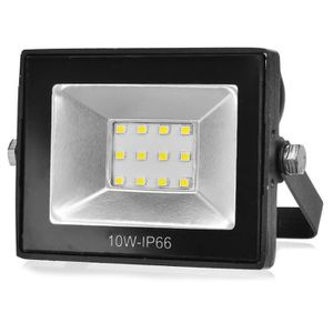 Phare LED SMD Mince 220V Projecteur Haute Éclat Extérieur IP65 Blanc 6000K 10W