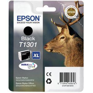 CARTOUCHE IMPRIMANTE Epson - T1301 - Cartouche d'Encre Noir 25,4 ml:  F