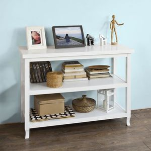 TABLE D'APPOINT SoBuy® FSB06-W Table Console table d'appoint 2 éta