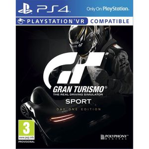 JEU PS4 Gran Turismo Sport Jeu PS4/VR Edition Day One + 1