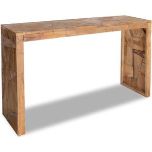 TABLE BASSE Table console Teck 120 x 35 x 76 cm
