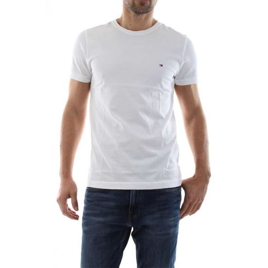 TOMMY HILFIGER T shirt uni marine col rond
