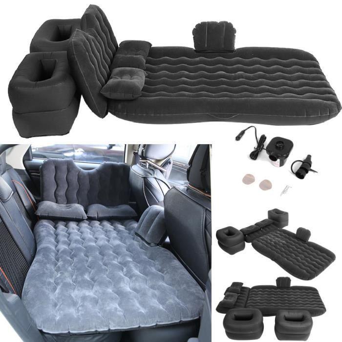 Voiture Voyage Matelas gonflable Air Lit Seat Camping Universal SUV Retour Couch Noir