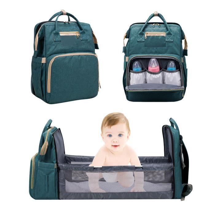 2in1Maman de voyage multifonctionnel sac à dos portable sac à langer de grande capacité PACK PRODUITS DE FITNESS ET