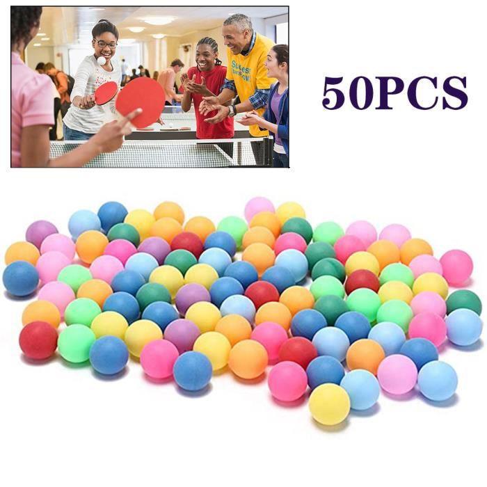 50pcs - pack boules de tennis de table de divertissement de 40mm de balles colorées _pian3302