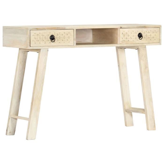 INGSHOP© Table console 110 x 35 x 76 cm Bois de manguier massif Surface polie et laquée