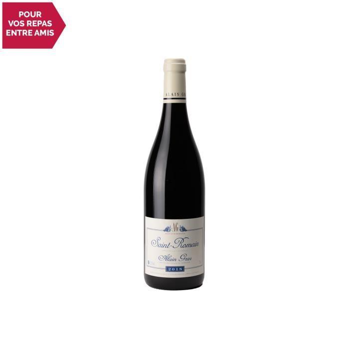 Saint-Romain Rouge 2018 - 75cl - Domaine Alain Gras - Vin AOC Rouge de Bourgogne - Cépage Pinot Noir