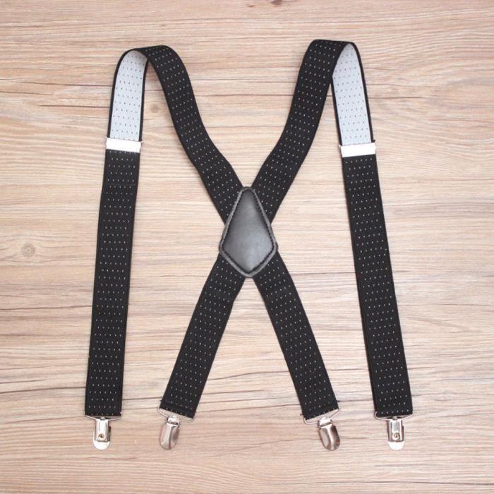 Noir marine Dot design Gents Mens 3.5cm Suspenders Bretelles réglables élastique sauvage BHP81113329BK_911