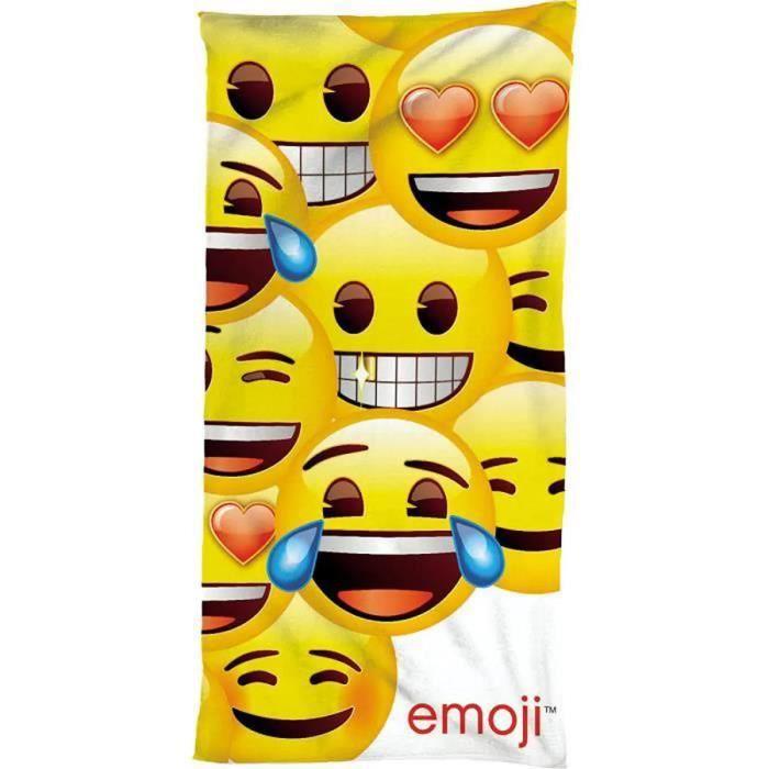 Drap de plage Emoji en vacances