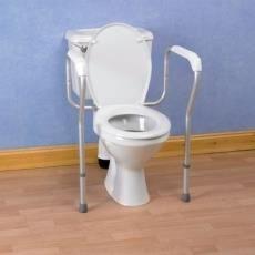 Cadre de toilettes aluminium réglable en hauteur