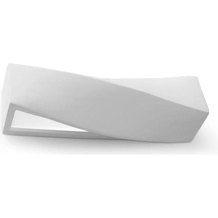 Applique Murale Céramique SIGMA E27 Lampe Murale Moderne Boho Design pr Chambre Salon Escalier Couloir - Blanc