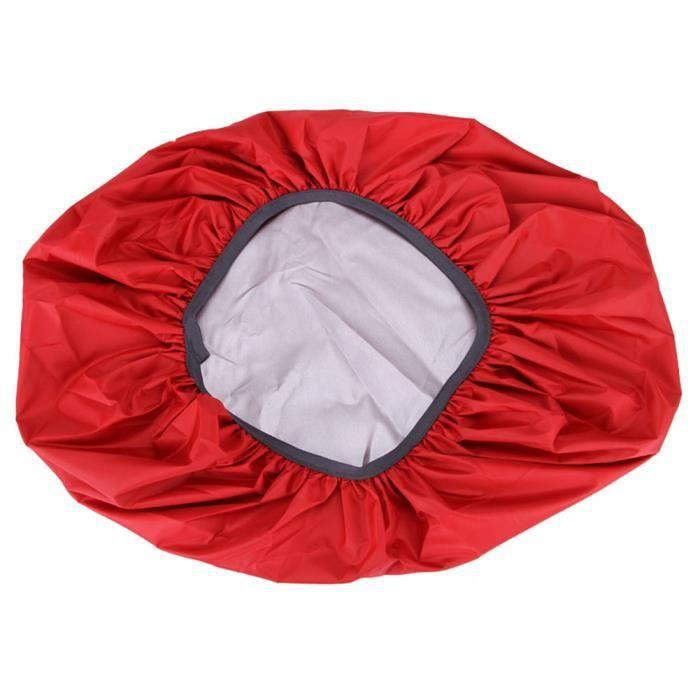 Sac Housse De Pluie 35-70L Protable Étanche Anti-larme Anti-UV Anti-UV Couverture De Sac À Dos pour Camping rouge 45 litres (M)