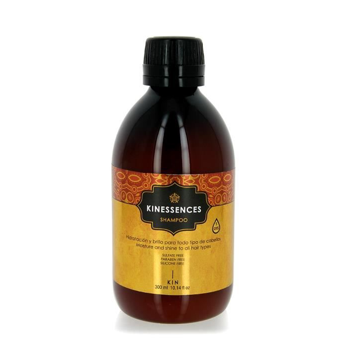 Kin Cosmetics Shampoing hydratation et brillance 300ml Sans parabène, Sans silicone, Sans sulfate