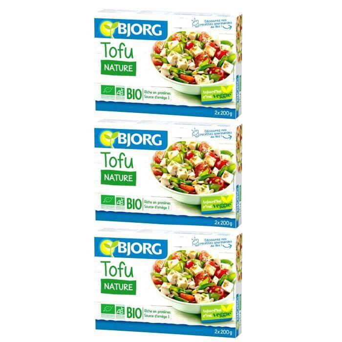[LOT DE 3] Tofu nature bio 2 x 200 g Bjorg