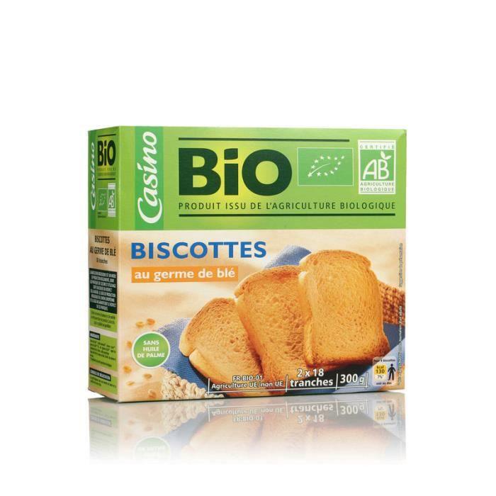 CASINO Biscottes au germe de blé - 300 g.