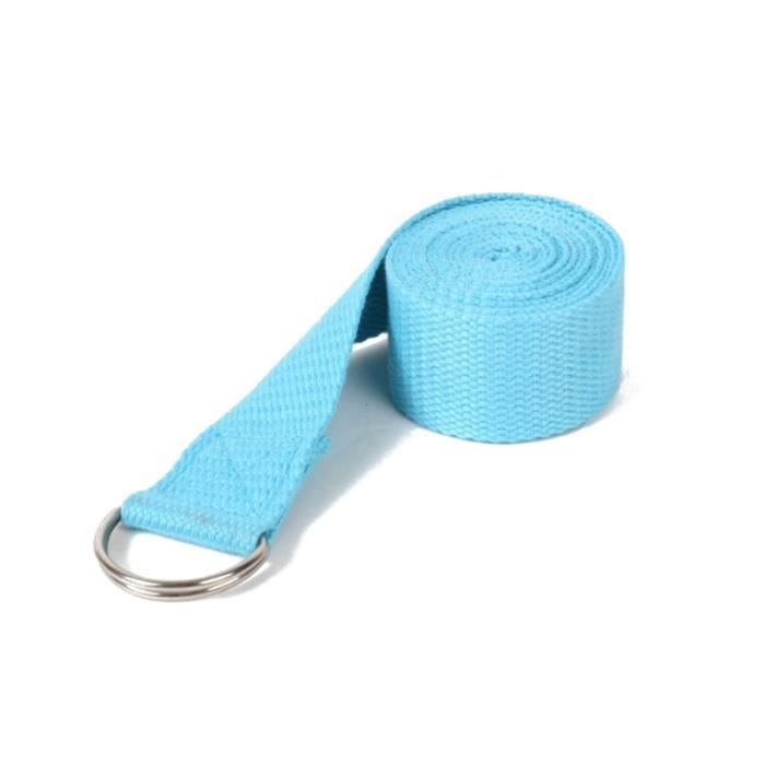 1 pc sangle de yoga bleu ciel boucle anneau en D sangles d'exercice durables pour les sports de GROUND MAT - GYM MAT - YOGA MAT