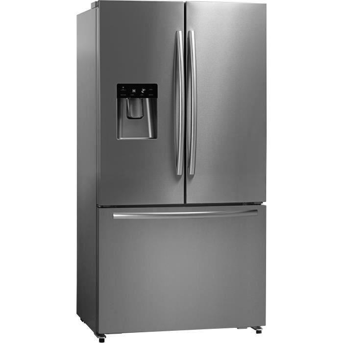 Hisense RF697N4ZSF - Réfrigérateur multi-portes - 577L (415L + 162L) - froid ventilé total - L91cm x H178cm - Inox