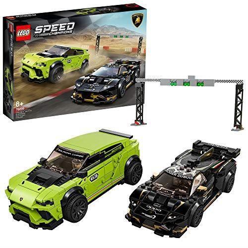 LEGO 76899 Speed Champions Lamborghini Urus ST-X & Lamborghini Huracán Super Trofeo EVO, Set de voiture de course 76899