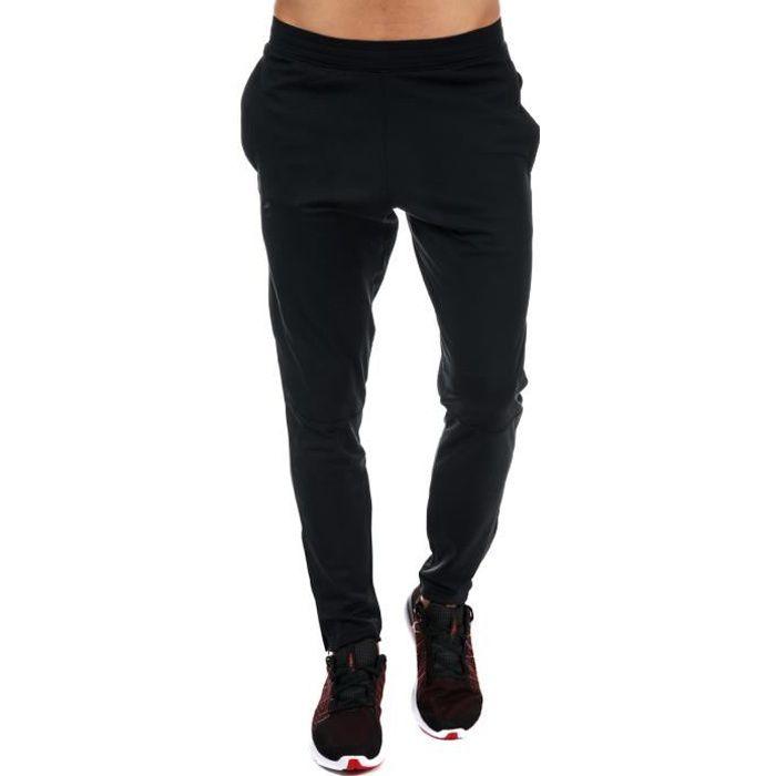 Pantalon Under Armour Sportstyle Pique pour homme en noir.