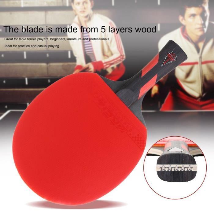 Raquette de tennis de table Manche court Ping-pong Rouge 240x150x20mm RAQUETTE DE TENNIS DE TABLE