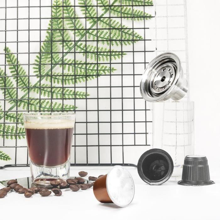 Adaptateur pour capsule de café réutilisable Nespresso Vertuoline pour filtre Nespresso