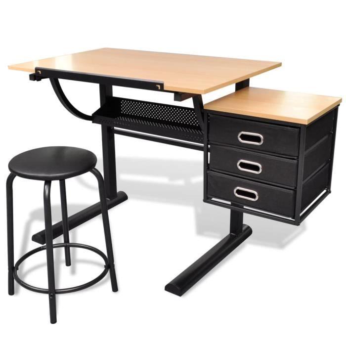Table à dessin inclinable avec tabouret Table à dessin adulte