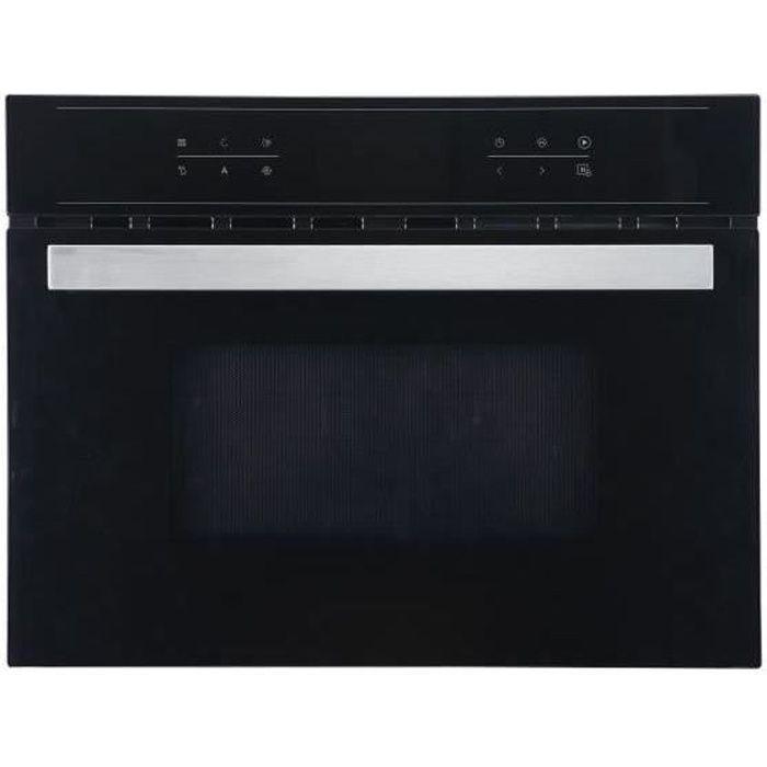 SHARP KM-4403B Micro-ondes combiné grill encastrable - Noir - 44L - 900W - Gril : 600W - Puissance du four : 1700W