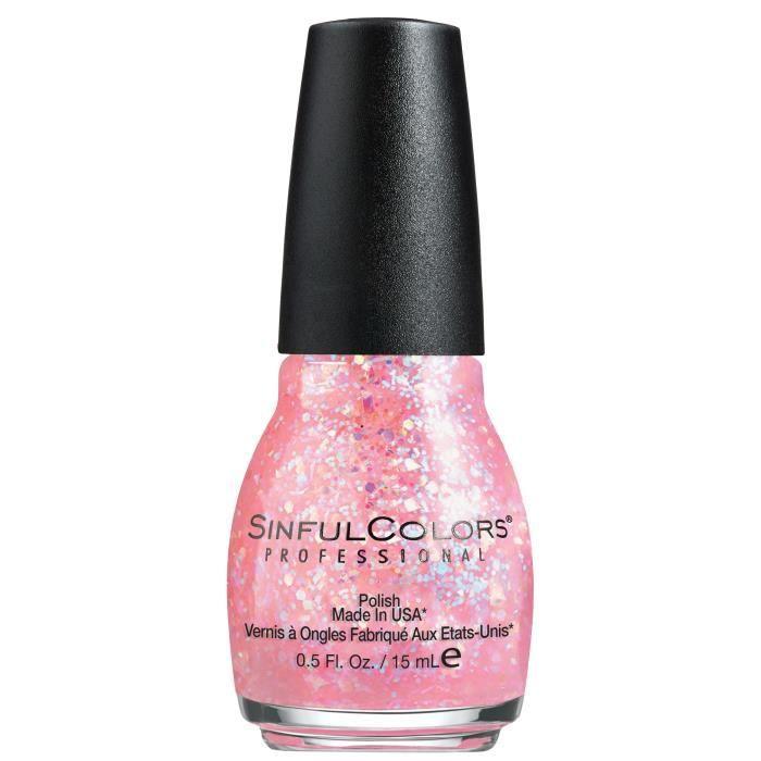 SINFUL Vernis à ongles n° 830 Pinky Glitter - 15 ml