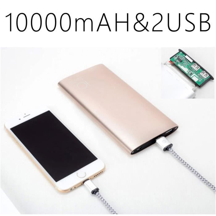 ultra fin power bank batterie externe 10000mah pour smartphone iphone samsung ipad mp3 mp8. Black Bedroom Furniture Sets. Home Design Ideas